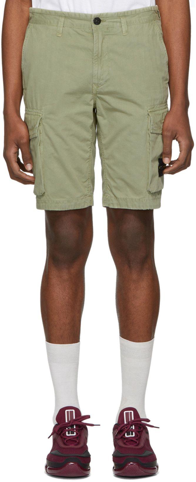 Stone Island Green Bermuda Shorts Bermuda Shorts Stone Island Cargo Shorts