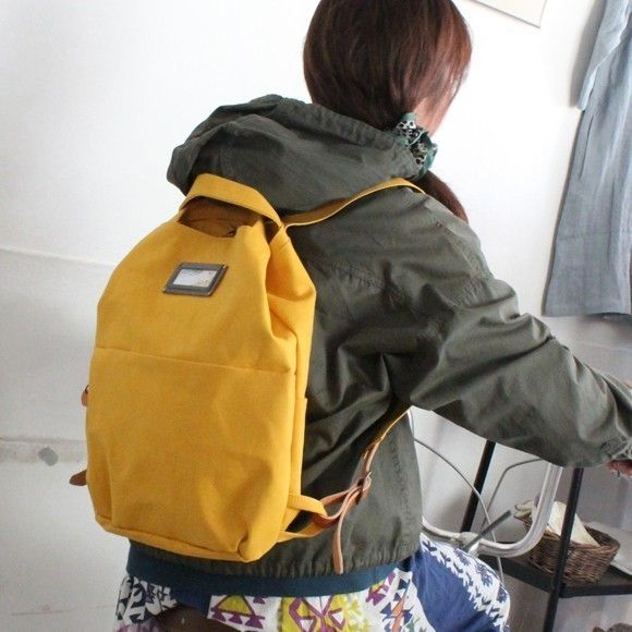 minne(ミンネ)| 帆布リュック_camp(イエロー)