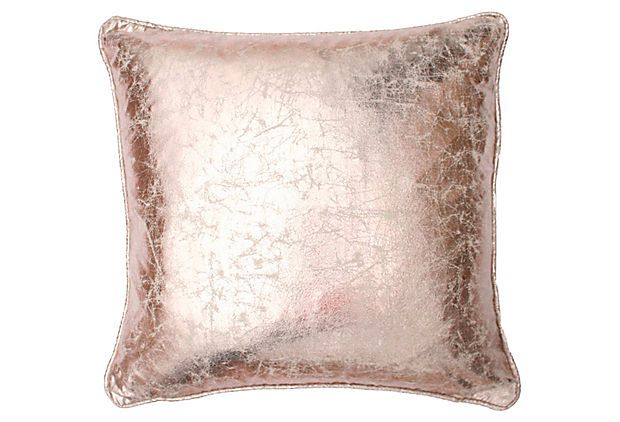 Metallic 18x18 Pillow Rose Gold On Onekingslane Com