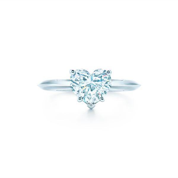 ハートシェイプ ダイヤモンド ティファニー バンド エンゲージメント リング - Tiffany & Co.(ティファニー)の婚約指輪(エンゲージメントリング)