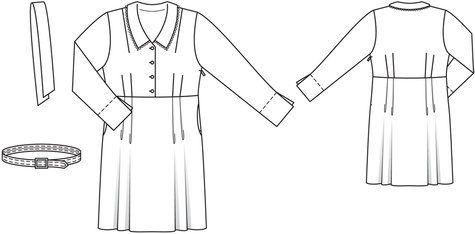 40s Style Shirtdress (Plus Size) 08/2013 #138