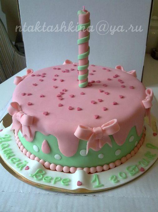 торт девочка корона розовый горошек - Поиск в Google