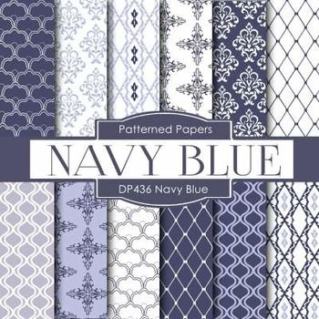 Free digital papers. Navy and white. Very pretty!!