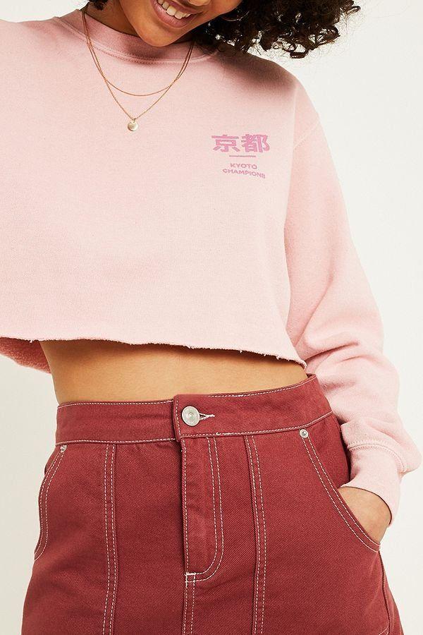 da68b285 UO Kyoto Overdyed Crop Sweatshirt   Urban Outfitters   Women's   New  #UOEurope #urbanoutfittersEU #urbanoutfitters