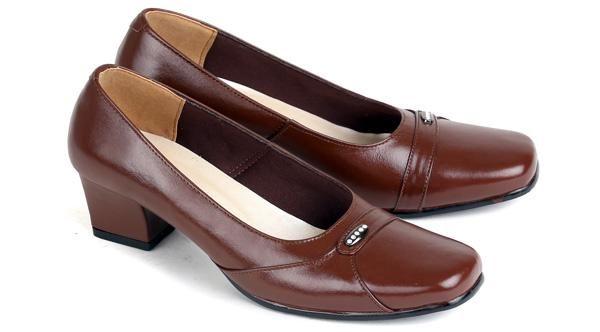Model Sepatu Kerja Wanita|Sepatu Pantofel Kulit Wanita |Sepatu High Heels Cewek Mumer Kulit Formal Branded Murah Terbaru|ES 559