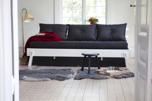 ikea ps 2012 daybed four functions in one seating bed for one bed for two and two big. Black Bedroom Furniture Sets. Home Design Ideas