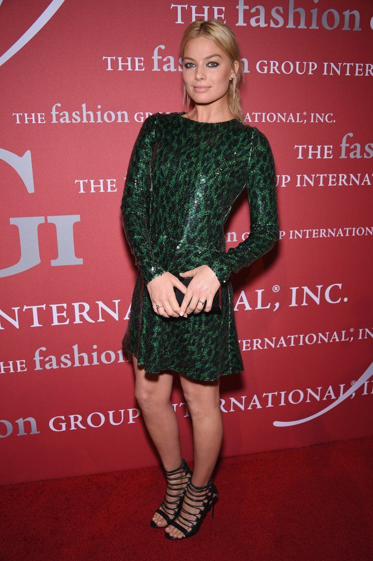 Pin for Later: Margot Robbie's Red Carpet Looks Will Give You Gucci Fever  Wearing a Marc Jacobs dress at the FGI Night of Stars event in 2014.