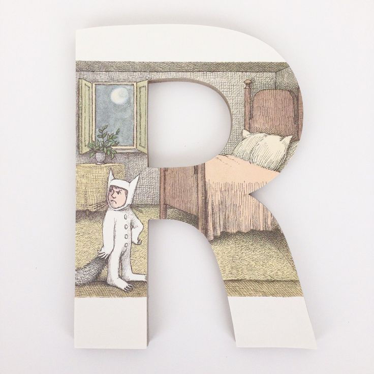 Where the Wild Things Are Letter Set - Literary Nursery Decor - LetterLuxe