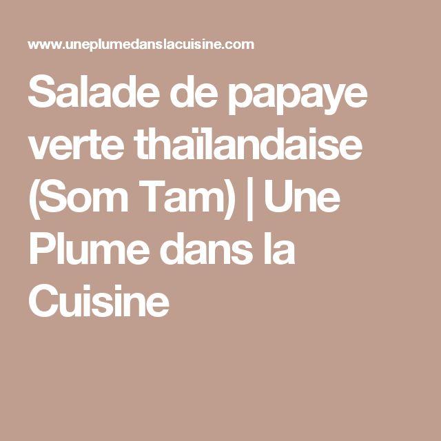 Salade de papaye verte thaïlandaise (Som Tam) | Une Plume dans la Cuisine