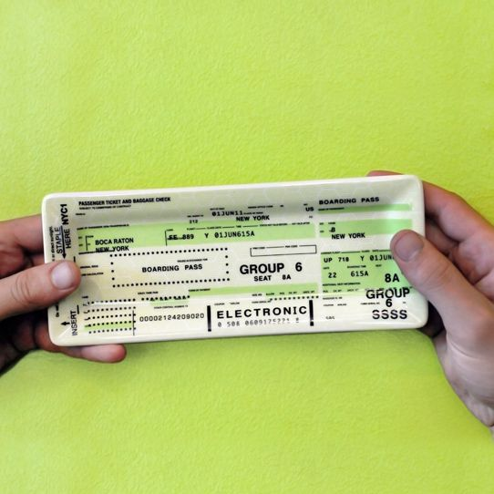 Airline Ticket Tray