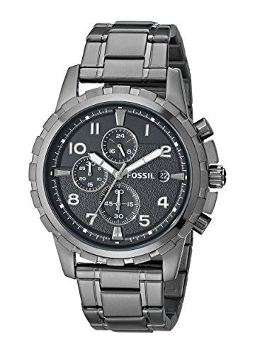 #Fossil Men's FS4721 Dean Smoke-Tone Stainless Steel Chronograph Watch Fossil