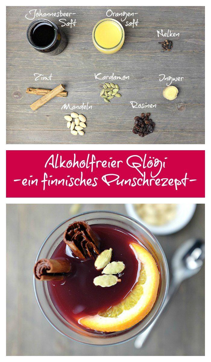 Ein leckeres und wärmendes Getränk an kalten Wintertagen – alkoholfreier Glögi – ein Punsch-Rezept aus Finnland. Unbedingt mit Mandeln und Rosinen genießen!