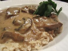 Beef Stroganof, making this tonight with prime rib leftovers and creme frache; you can't beat the Silver Palate recipe!