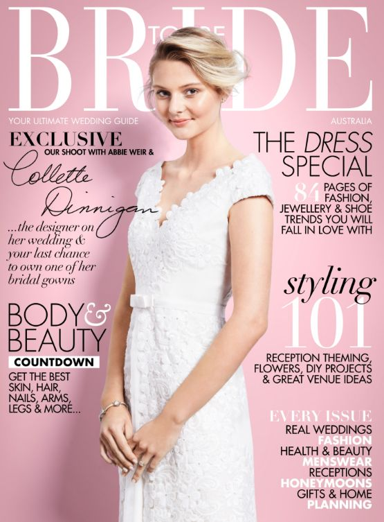 JCM featured in Bride to Be Australia May-July Issue!
