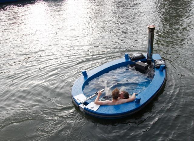 HotTug- A Wood-Fired Hot Tub Boat...