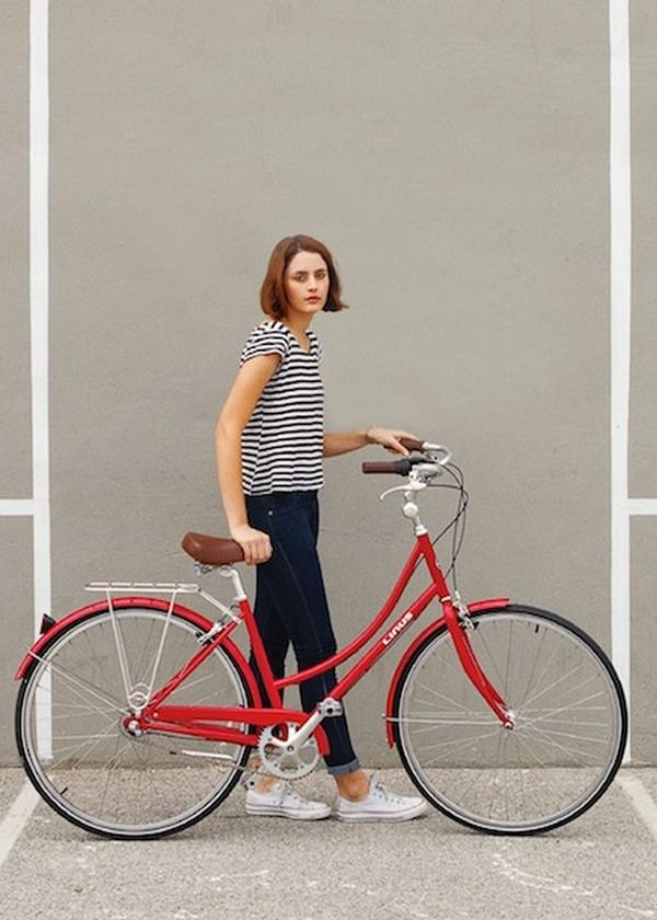 Girl and her bike