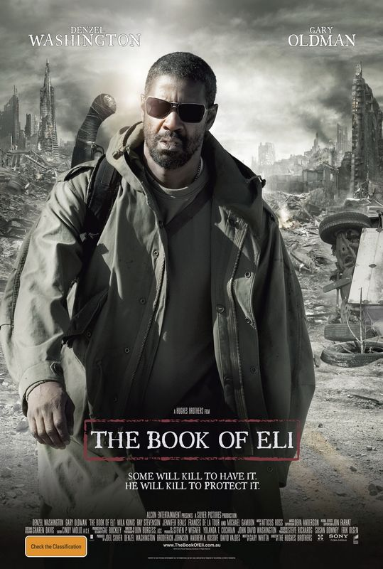 The Book Of Eli - A man travels on his own across post-apocalyptic America to protect a book that holds the key to salvation.