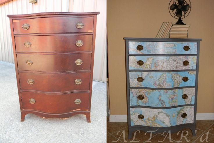 Before and After map dresser: