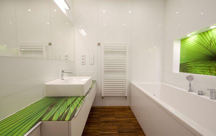 Kúpeľňa so zeleným akcentami