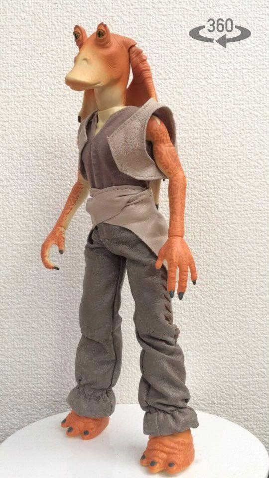 ジャージャービングスのフィギュア。 vizo360で撮影。 【指やマウスで回転して見れます】 #Starwars #スターウォーズ #フィギュア #人形 #Jar_Jar_Binks #hasbro