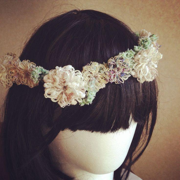 ☆手編みの花冠☆