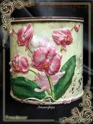 Мастер-класс по декупажу на металле: Нежная орхидея