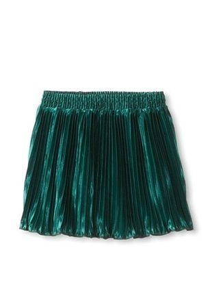 77% OFF American Apparel Kid's Accordion Pleat Skirt (Spruce)