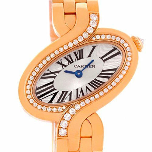 Women's Certified Pre-Owned Watches - Cartier Delices quartz silver womens Watch WG800003 Certified Preowned *** Visit the image link more details.