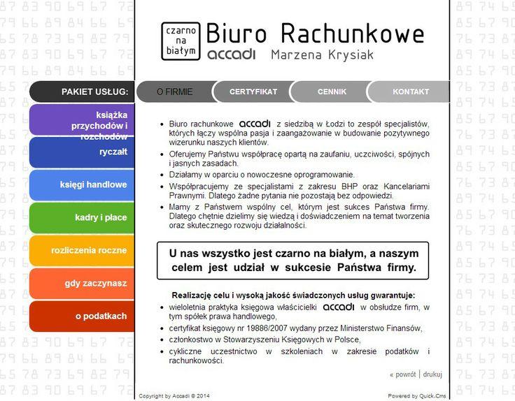 Nowa strona biura rachunkowego Accadi http://www.accadi.pl