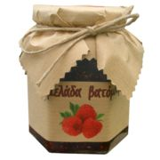 Blackberry marmalade made in our laboratory. Ingredients: Fruits, sugar and lemon juice.