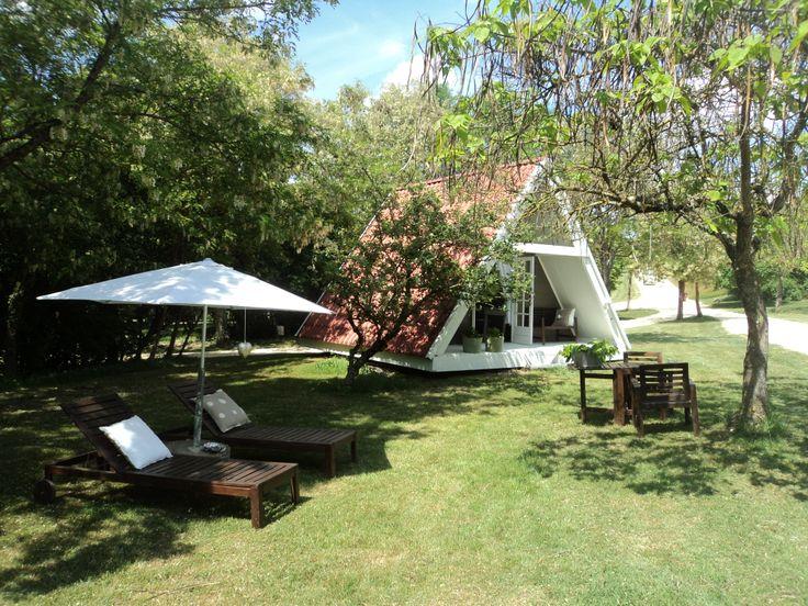 Camping Les Ormes, Draaibaar huisje, bijzonder kamperen, kamperen frankrijk