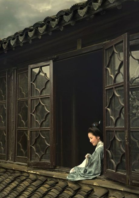 architecture traditionnelle : fenêtres, vitrage, Kyoto