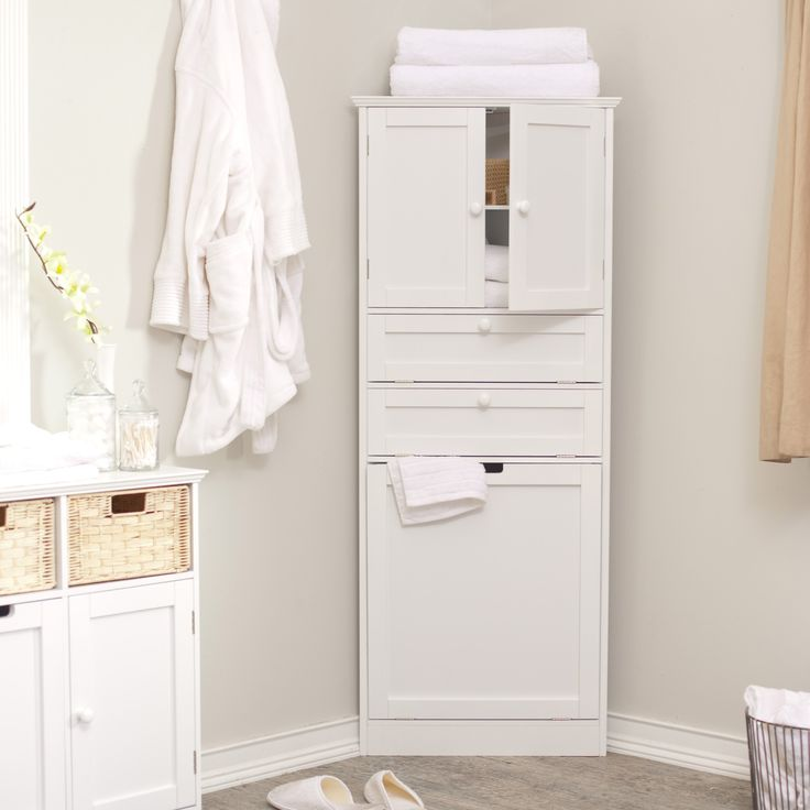 Corner Bathroom Cabinet White Wood