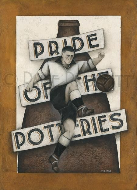 Port Vale Gift - Pride of The Potteries Ltd Edition Signed Football Print