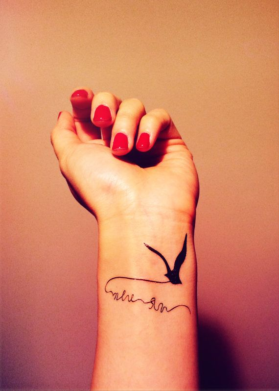 2pcs flying bird seagull tattoo inknart temporary by for Can fbi agents have tattoos