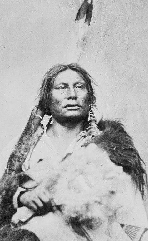 Gall - Hunkpapa - 1878Gall (vers 1840-5 décembre 1894), était un chef de guerre amérindien Hunkpapa, un des sept clans de la nation sioux qui prit part à la bataille de Little Big Horn.Il fut affublé de ce surnom quand, orphelin et famélique, il ingurgita la vésicule biliaire d'un animal (du mot anglais gall qui désigne la bile). Avant cet événement, il était appelé « Bear shedding his hair » (ours qui perd ses poils).(Wikipedia)