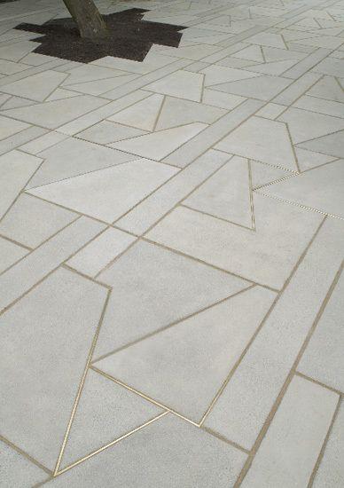 Granite Floor Inlays : Cemcrete cement screed floors enhance your design with
