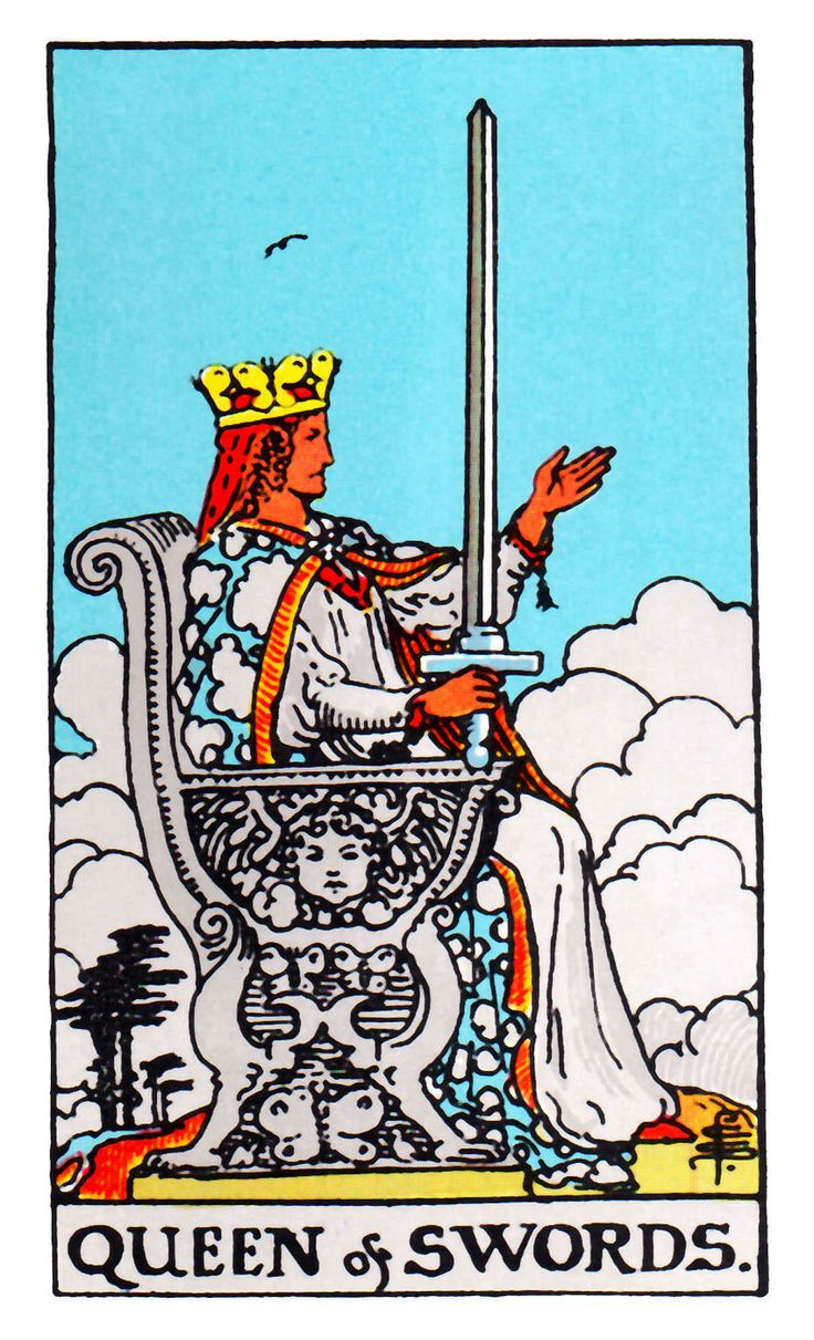 Rider Waite Tarot Cards Set Of 78 Cards By Patriciadmdesigns: Queen Of Swords ~ Rider Waite