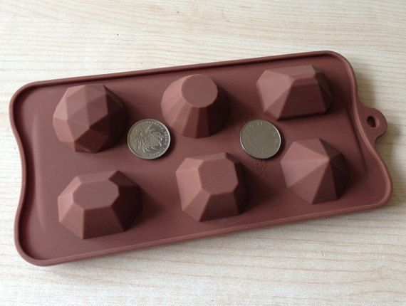 6-cavity Diamond Jewel Cake Mold Mould Silicone Mold Biscuit Mold Chocolate Mold Soap Mold