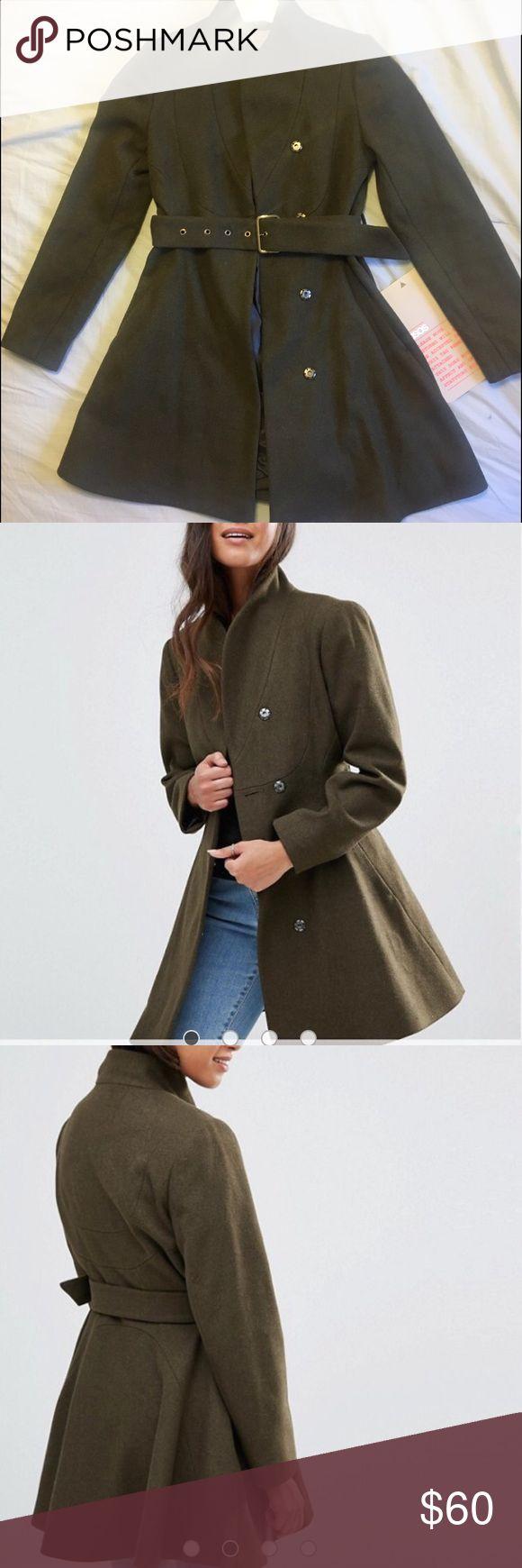 Winter coat ASOS Petite Khaki Green Winter Coat. Never worn. ASOS Petite Jackets & Coats Pea Coats