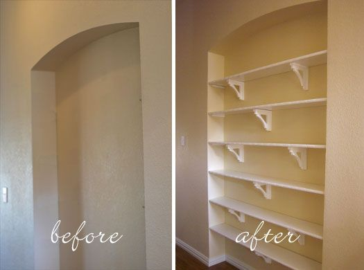 Homemade Diy Recessed Shelves Recessed Shelves Modern