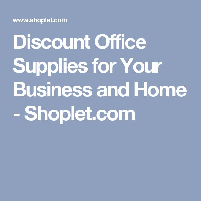Discount Office Supplies for Your Business and Home - Shoplet.com