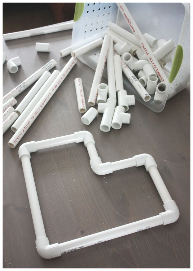 PVC Pipe Heart Building Large Heart