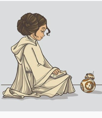 A NEW TOY - BB-8 and Princess Leia ... Star Wars °°