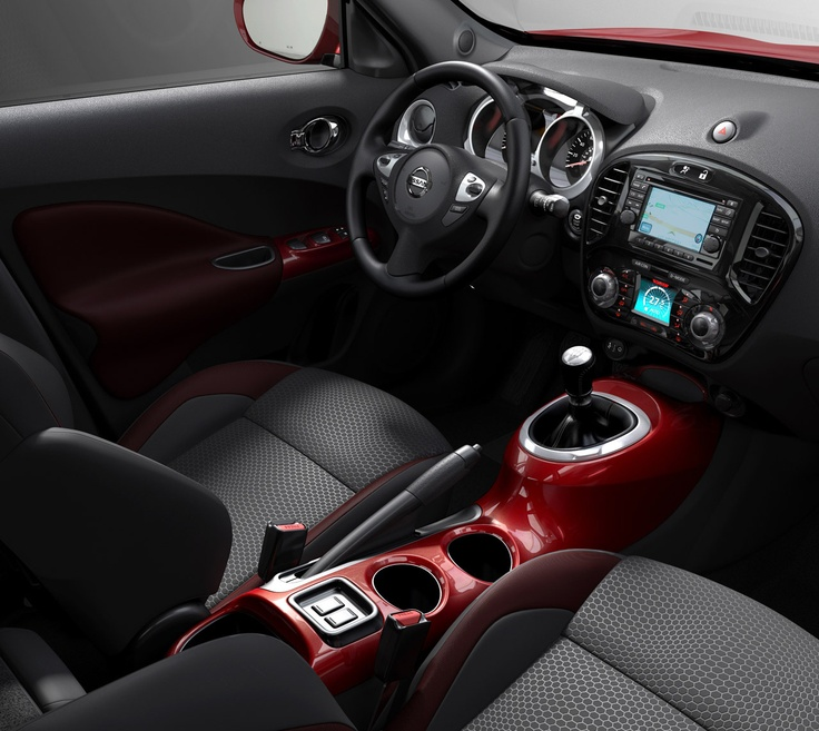 nissan juke interior leather seats w red trim toys pinterest cars leather and style. Black Bedroom Furniture Sets. Home Design Ideas