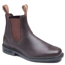 """Australian Blundstone Boots. These are the iconic Australian """"Blunnies,"""" worn by cattle drovers since the late 19th century. The comfortable slip-on style and legendary durability are popular around the world for outdoorspeople and travelers alike. Grip tabs and double elastic gores make them easy to pull on and off, and a removable molded foot bed gives them all-day comfort over any terrain."""