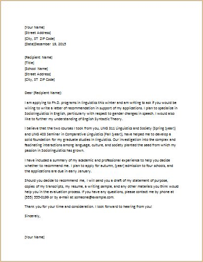 resume for letter of recommendation sample letters of