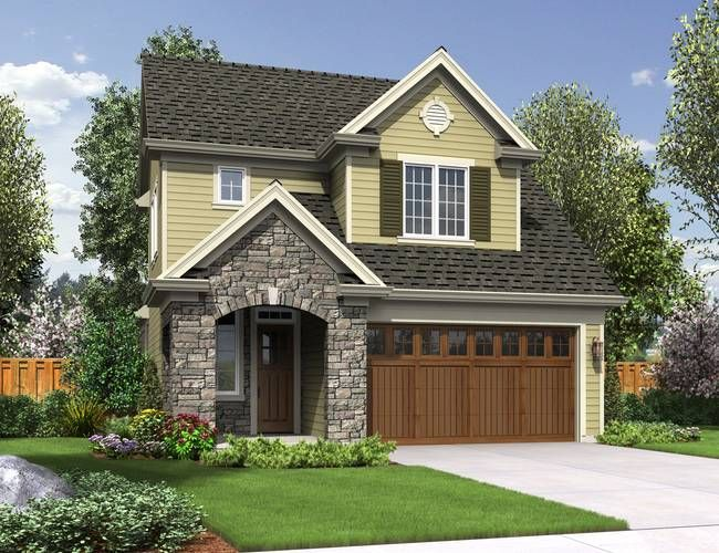 17 best ideas about narrow lot house plans on pinterest for Narrow lot house plans with front entry garage