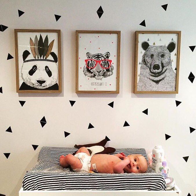 Create a cozy room for your baby with or Wallsticker Triangle! http://www.fermliving.com/webshop/shop/wallstickers/mini-triangles-wallsticker.aspx