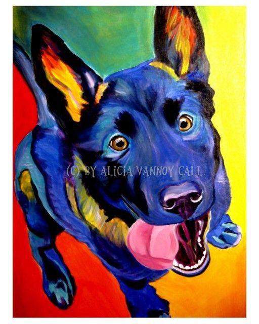 44 best Groovy Dog Art images on Pinterest | Dog art, Dog ...